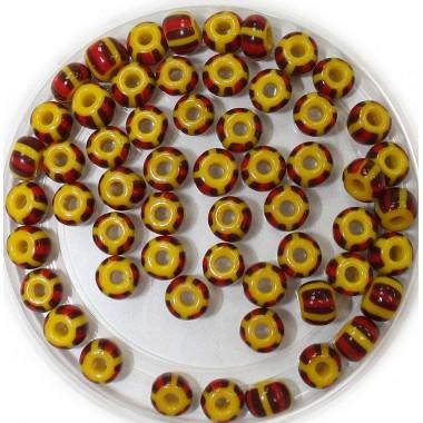 Бісер №83190 смугастий жовто-коричневий, 1г