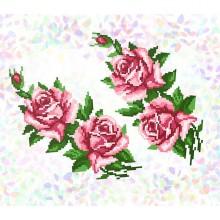 """К-202 """"Троянди"""" Водорозчинний флізелін"""