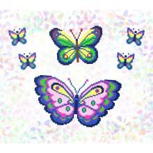 """К-226 """"Метелики"""" Водорозчинний флізелін"""