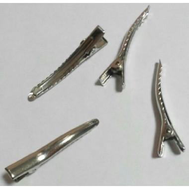 Заготівля шпилька качечка, 4 см, срібло
