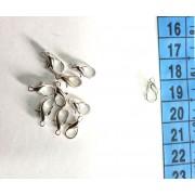 Карабін крапля срібло (20 шт)