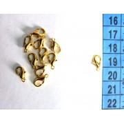 Карабін крапля золото (20 шт)