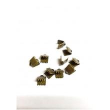 Затискачі для стрічок 5 мм, бронзові (10 шт)
