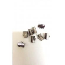 Затискачі для стрічок 10 мм, темне срібло (10 шт)
