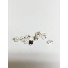 Затискачі для стрічок 4 мм, сріблясті (10 шт)