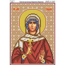 Набір з бісером  І-340 Свята мучениця Каріена (Карина)