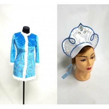 Комплект-костюм Снігуроньки (велюр блакитний)