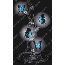 """Картина з бісером БІС-8118 """"Танець метеликів"""""""