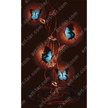 """Картина з бісером БІС-8118б """"Танець метеликів"""""""