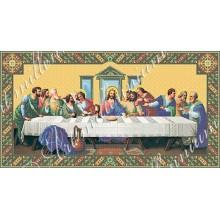 Набір з бісером ікона R-0044A Таємна вечеря 56,4 * 31