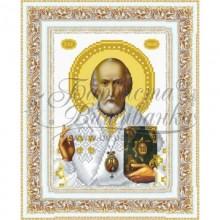Набір з бісером ікона TO070 ан1622 Святий Миколай Чудотворець
