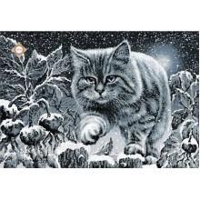 """Картина з бісером СЛ-3167 """"Місячний кіт"""""""