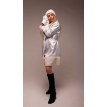 Карнавальний костюм Снігуроньки (срібляста парча)