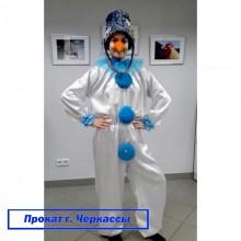 Прокат-Карнавальний костюм Сніговик (атлас)