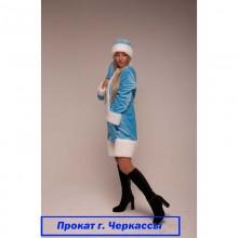 Прокат-Костюм Снігуроньки (велюр блакитний)