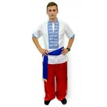 МСс-0408 Чоловіча сорочка на домотканному полотні