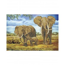 Картина з бісером А2-К-696 Сімейство слонів
