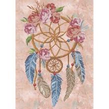 Картина з бісером А3-К-1071 Ловець снів з трояндами