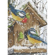 Набір для вишивки бісером А3-К-359 Зимові птахи