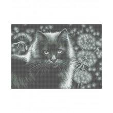 Набір для вишивки бісером А3-К-893 Кішка в кульбабах
