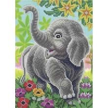 Набір для вишивки бісером А5-Д-330 Слоненя