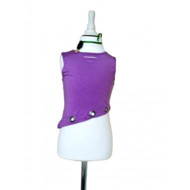 Блуза трикотажна фіолетова з декором