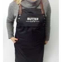 """Стильний фартух для персоналу """"Butter""""чорний"""