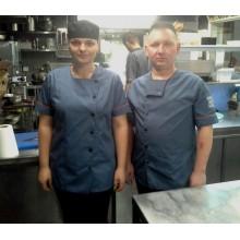 Кітель кухарський сірий (короткий рукав)