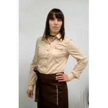 "Сорочка для персоналу ""Тотал"" бежева"