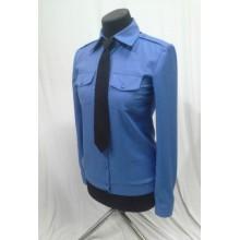 Сорочка форменна блакитна з довгим рукавом