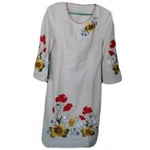 Сукня вишита на льоні