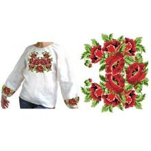 Схема вышивки блузки БЖ - 10