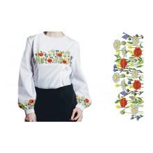 Схема вышивки блузки БЖ - 45