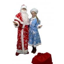 Комплект костюмів Дід Мороз і Снігуронька