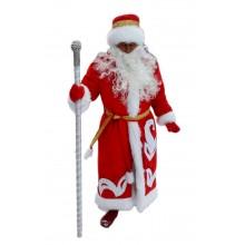 Костюм Діда Мороза (плюш червоний)