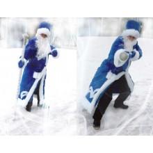 Костюм Діда Мороза (плюш синій)