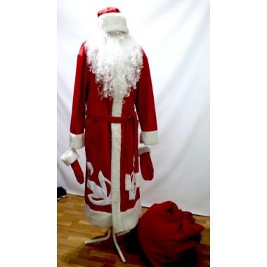 Карнавальний костюм Діда Мороза червоний