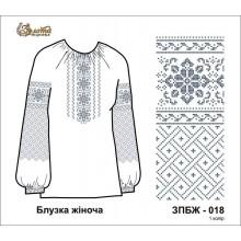 Заготівля жіночого блузки під вишивку бісером ЗПБЖ-018